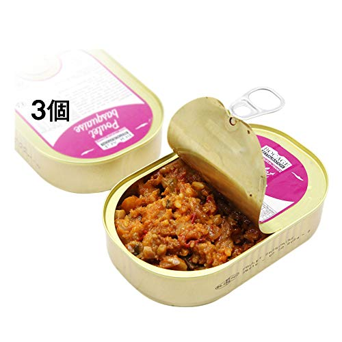 (3個) Canned Chicken フランス 簡便 食品 Chicken Basque 災難 非常食糧 缶詰 旅行、キャンピング、アウトドア 高品質 並行輸入