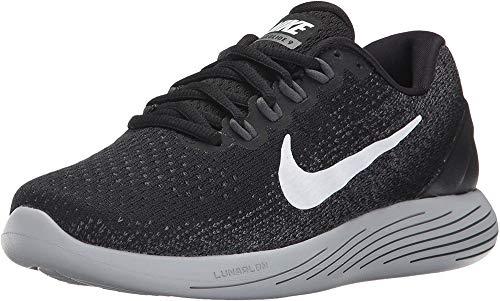 Nike Wmns Lunarglide 9, Scarpe Running Donna, Multicolore (Black/White/Dark Grey/Wolf Grey 001), 36.5 EU