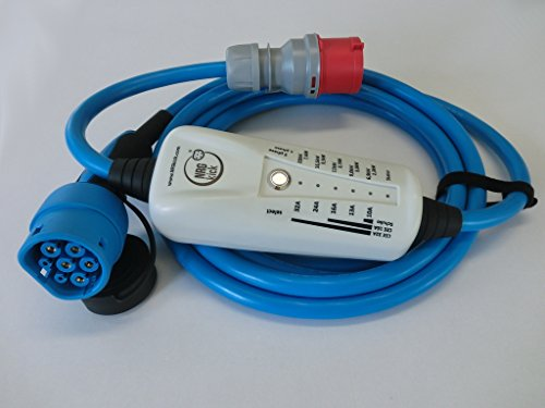 11KW, Typ 2 - LIGHT mobiles Ladestation für Elektroauto, Ladeneinheit 16A, Notladekabel mit integrierter Wallbox, 3-Phasenladung Proteus-NRGkick 16A – FI Schutzmechanismus Typ B Charakteristik - 2