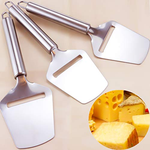 YG_Oline 3 Pack Stainless Steel Handheld Cheese Slicer Cheese Shaver Good Grips Nonstick Cheese Slicer For Hard or Soft Cheese