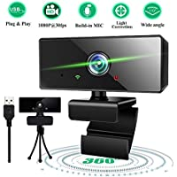 Retround Full HD 1080P Mic Computer Webcam with Tripod