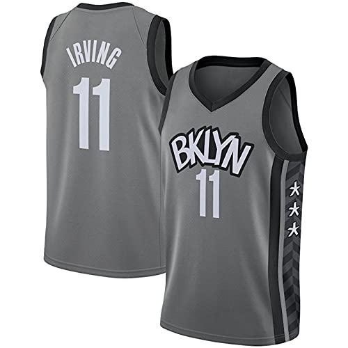 Jerseys de Baloncesto Masculino NBA No. 11 Brooklyn Nets Chaleco Swingman Camisetas Sin Mangas Sweatwear For Teenagers Unisex Women,Gray,3XL