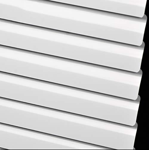 ZAQI Jalousie rollos fensterrollos Weiße Aluminium-Mini-Jalousien for Fenster, innenliegender Sonnenschutz mit Beschlägen, 60/80/100/120/140 cm breit (Size : 100×160cm)