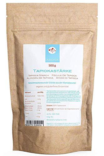 Tapiokastärke (500g) - vegan und glutenfrei - im wiederverschließbarem Beutel von kaona