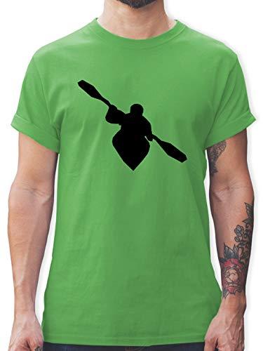 Wassersport - Kajak - L - Grün - L190 - Tshirt Herren und Männer T-Shirts