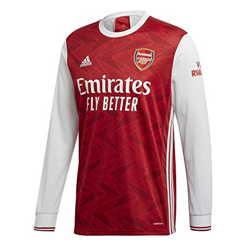 adidas 2020-21 Arsenal Home Long-Sleeve Jersey - Red-White L