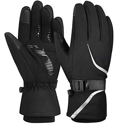 Vbiger 3M Winter Gloves Touch Screen Gloves Anti-slip Sport Gloves for Running, Climbing, Skiing, Cycling, Black