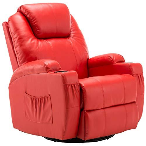 Mcombo Manual Swivel Glider Rocker Recliner Chair...