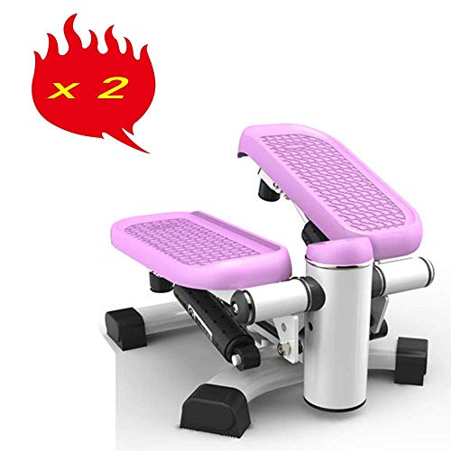AUKLM Stepper,Stepper Exercise Machine Step Mini, Stepper Aerobic Motor Stomp Mountain Climbing Machine with Power Ropes for Home Fitness,2 PCS