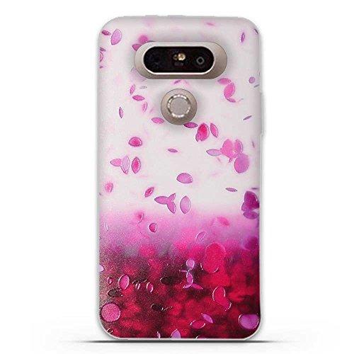 para LG G5-Fubaoda-3D Realzar,Hermosa Flor Patrón,Gel de Silicona TPU,Fina,Flexible,Resistente a los arañazos en su Parte Trasera,Amortigua los Golpes,Protectora Anti-Golpes para para LG G5