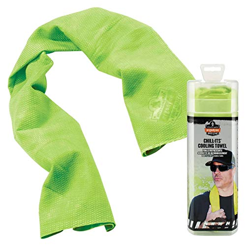 Ergodyne Chill Its 6602 Cooling Towel, Long Lasting Cooling Relief,Lime