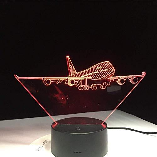 Vliegende grote vleugels vliegtuig A380 3D lamp RGB Mood Lamp 7 kleuren licht Led nacht licht verjaardag vakantie Decor cadeau voor kinderen vriend