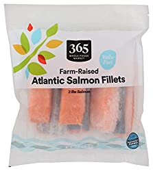 365 by Whole Foods Market, Frozen Farm-Raised Seafood Value Pack, Atlantic Salmon Fillets, 32 Ounce