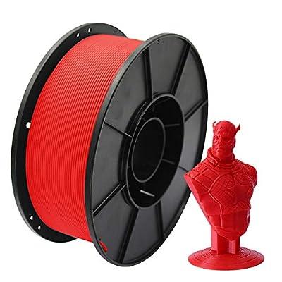 PLA 3D Printer Filament 1.75mm, Megade 3D Printing Filament Materials for 3D Printer and 3D Pen, Dimensional Accuracy of +/- 0.02mm, 1kg 1 Spool (Black)