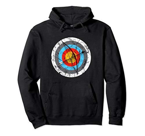 Bogenschießen Zielscheibe Bogenschützen Geschenk Pullover Hoodie