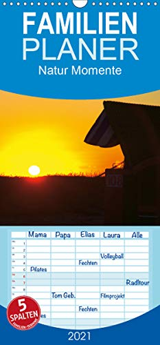 Natur Momente - Familienplaner hoch (Wandkalender 2021, 21 cm x 45 cm, hoch)