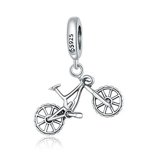ZDJDMZ Charms Perline per Mountain Bike 925 Ciondolo in Argento Sterling con Ciondolo Adatto per Braccialetti Fai da Te