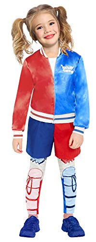 Girls Superhero Harley Quinn DC Comics Carnival Halloween World Book Day Fancy Dress Costume 4-14 Years (6-8 years)
