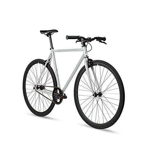 6KU Fixed Gear Single Speed Urban Fixie Road Bike, Concrete, 55cm/Large