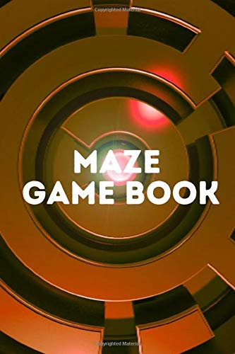 MAZE GAME BOOK: Activity workbook - for all ages or grades - labyrinths from the easiest to the most extreme - suitable for kids and adults - nice gift idea - cover with a colorful maze