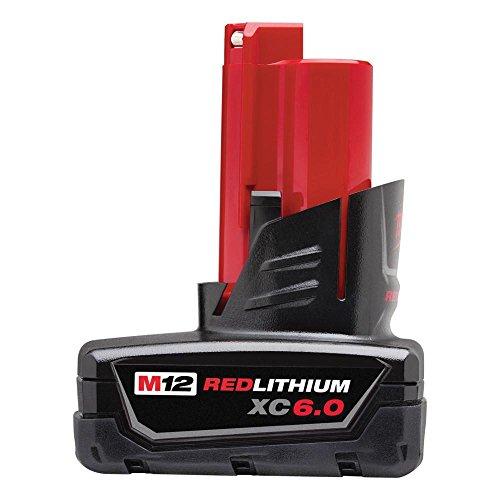 MILWAUKEE'S 48-11-2460 M12 REDLITHIUM XC6.0 Extended Capacity Battery Pack