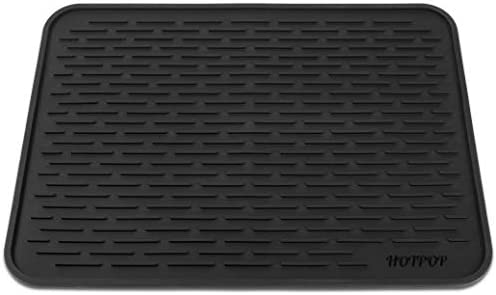 HOTPOP XXL 24 x18 Super Sturdy Silicone Dish Drying Mat and Trivet Dishwasher Safe Heat Resistant product image