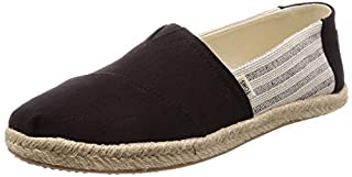 TOMS Women's Black Ivy League Stripes Women's Espadrilles 10013470 (Size: 9) (B077789SVJ) | Amazon price tracker / tracking, Amazon price history charts, Amazon price watches, Amazon price drop alerts