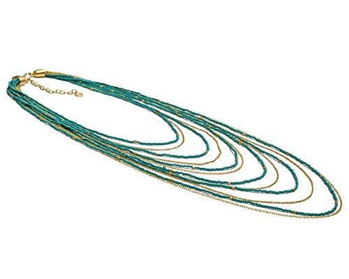 VESTOPAZZO FIS2001 - Collana Lagoon multifili color turchese