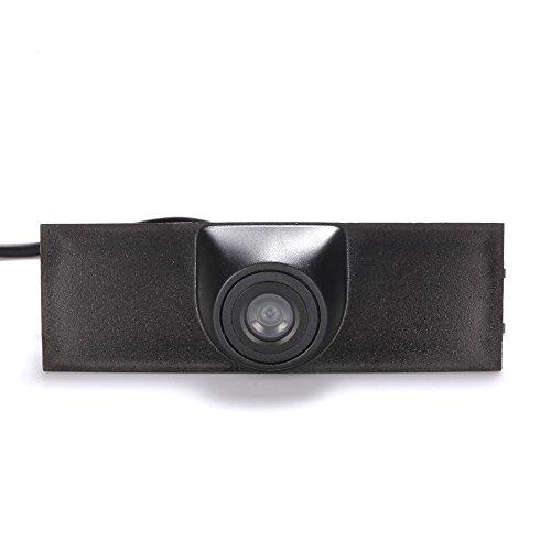 Dynavsal Véhicule spécifique à un véhicule Vue avant Logo Système de stationnement intégré avec CCD imperméable à l'eau IP67 Grand degré (moyen), noir pour VW Tourage SUV 2016 front Forward view