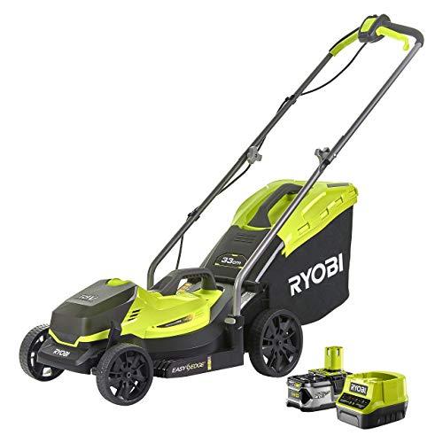 Ryobi RLM18X33B40 18V ONE+ Cordless 33cm Lawnmower Starter Kit (1 x 4.0Ah)