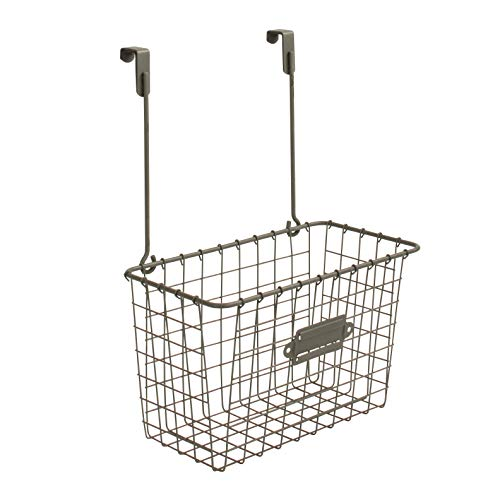 Spectrum Diversified Vintage Basket Kitchen Cabinet Storage & Cleaning Supply, Sink Organizer for Bathroom & Laundry Room, Large, Industrial Gray