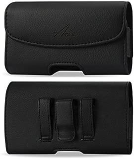 AGOZ Premium Leather Case For ZTE Blade Max 2S, Blade Spark Z971, Avid 916, ZMAX Champ Z917VL, ZMAX GRAND LTE Z916BL, Blade V8 PRO Z978, Axon M Z999, ZMAX One Z719D, Pouch Holster with Belt Clip Loops
