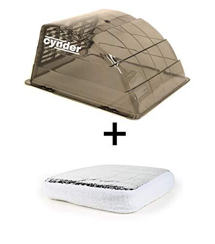 Cynder Universal Roof Vent Cover Vent Solar Insulator Pillow Bundle RV Camper Trailer RV Motorhome 02082