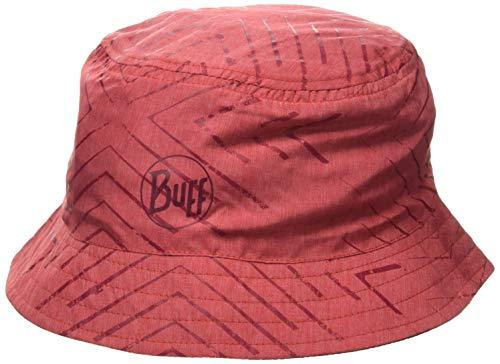 Buff Travel Bucket Hat Gorro, Unisex-Adult, Red, M/L