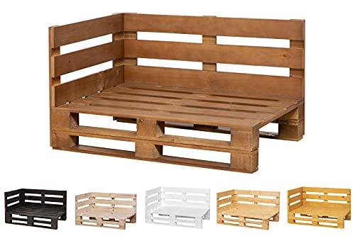 Chaise Longue Sofa PALETS Lijado Y Cepillado Interior/Exterior Nuevo Sillon PALETS/Sofa para Patio (120cm X 80cm, Nogal)