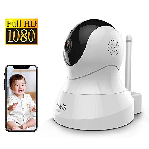 Cámara IP WIFI 1080P, Cámara Vigilancia Inalámbrica con Visión Nocturna Audio Bidireccional, Detección de Movimiento, Cámara Seguridad Interior Compatible con iOS/Android