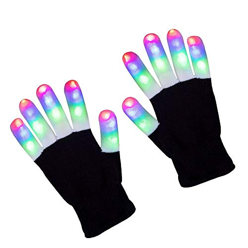 ZPTONE LED Gloves Finger Lights 3 Colors...