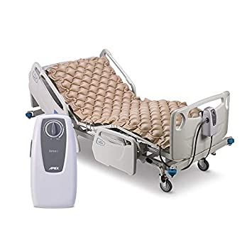 Apex Medical Domus 1 – Alternating Pressure Pads with Electric Pump Overlay System- Pressure Ulcers Prevention & Bed Sore Treatment- Fits Hospital Beds