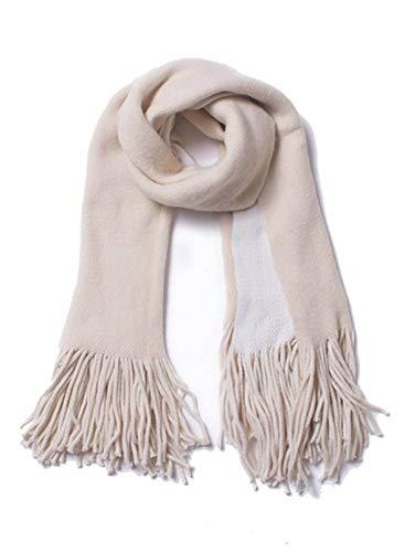 CORAFRITZ Damen-Halstücher für kaltes Wetter, dick, kariert, Quaste, modisch, warm, groß, lang Gr. Einheitsgröße, beige