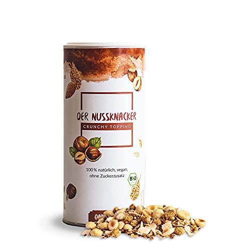 Oatsome Crunchy Topping 'Nussknacker' für Smoothie Bowl & Müsli - Haselnüsse, Kokoschips, Datteln - extra crunchy, ohne raffinierten Zucker (Bio Qualität, 230g)