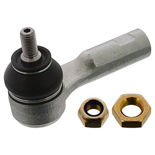 febi bilstein 21563 Spurstangenendstück / Spurstangenkopf mit Sicherungsmutter und Kontermutter (Vorderachse links), 1 Stück