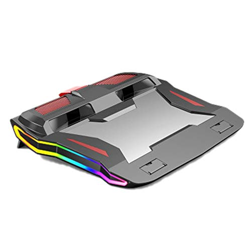 Huante Gaming Laptop Cooler, Adjustable Laptop Stand 3000 RPM,Powerful Airflow Cooling Pad, for 12-17 Inch Laptop,Rainbow