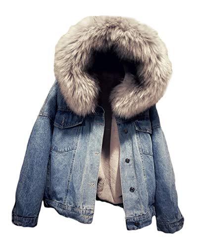 NUOVA linea uomo con cappuccio pelliccia Giacca in Pile Sherpa spessa TERMICI LAVORO Caldo Inverno Casual