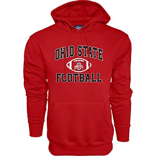 The Blue Brand NCAA Ohio State Buckeyes Mens Hoodie Team Color Football, Ohio State Buckeyes Red, X-Large (MHS_FOOTBALL_TEAM)