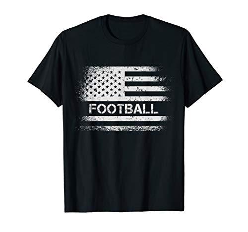 USA Flag Football - American Patriot US Flag Football Gift T-Shirt