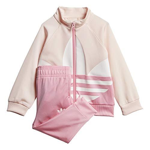 adidas Big Trefoil TS Tracksuit, Unisex niños, Top:Pink Tint/Light Pink/White Bottom:Light Pink, 6-9M