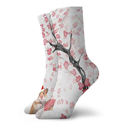 huatongxin Cherry Blossom Duvet Cover Set Dreamy Christmas Adult Calzini Cotton Cool Short Calzini For Yoga Hiking Cycling Running Soccer Sports