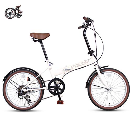 Folding bicycle ladies bicycles 6-speed 20-inch high-carbon steel unisex comfortable seat Put in the trunk Lightweight bikes city traffic road bike