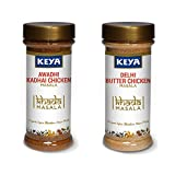 Keya Khada Masala Combo | PET Bottle | Exotic Spices Blend | Awadhi Kadhai Chicken x 1, Delhi Butter Chicken Masala x 1 | Pack of 2 x 100 Gm