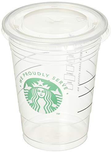 Starbucks Transparente Einwegbecher für kalte Getränke, 473 ml und Deckel (50 Stück)